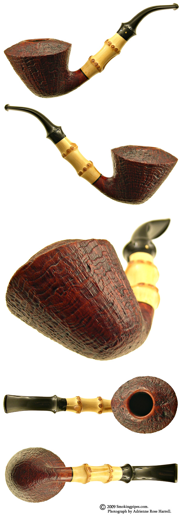 Sandblasted Bent Dublin with Bamboo