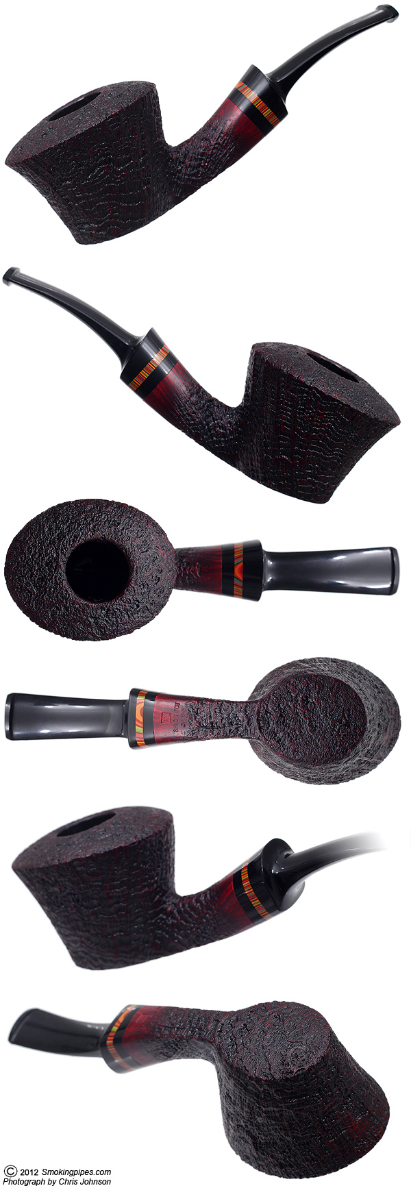 Sandblasted Bent Dublin Sitter with Tsuishu