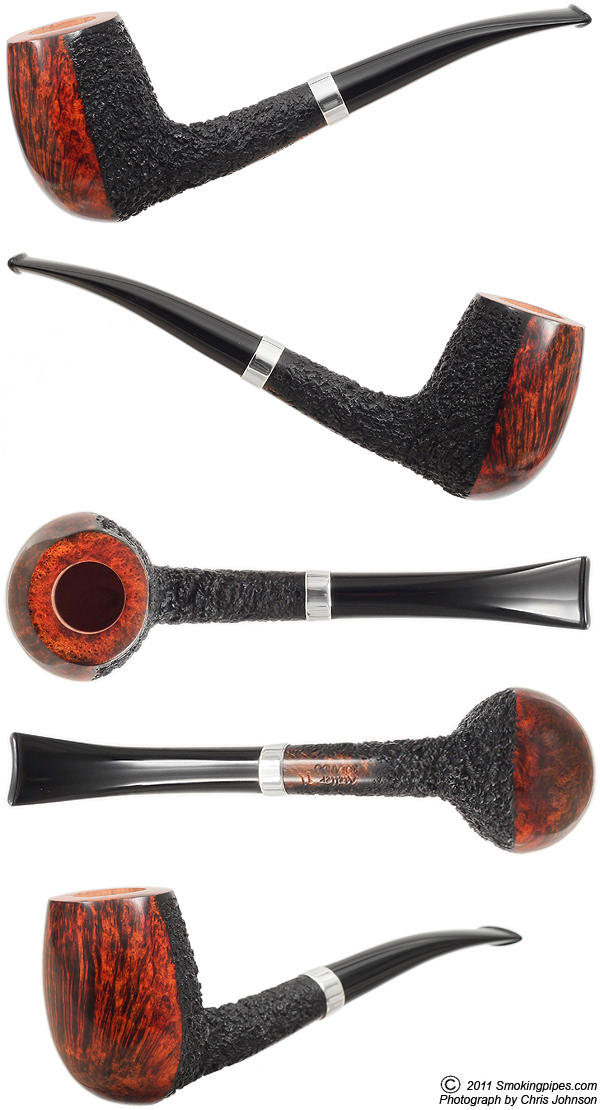 Partially Rusticated Bent Billiard with Silver Band