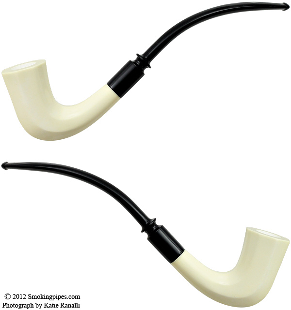 Smooth Paneled Bent Billiard Churchwarden