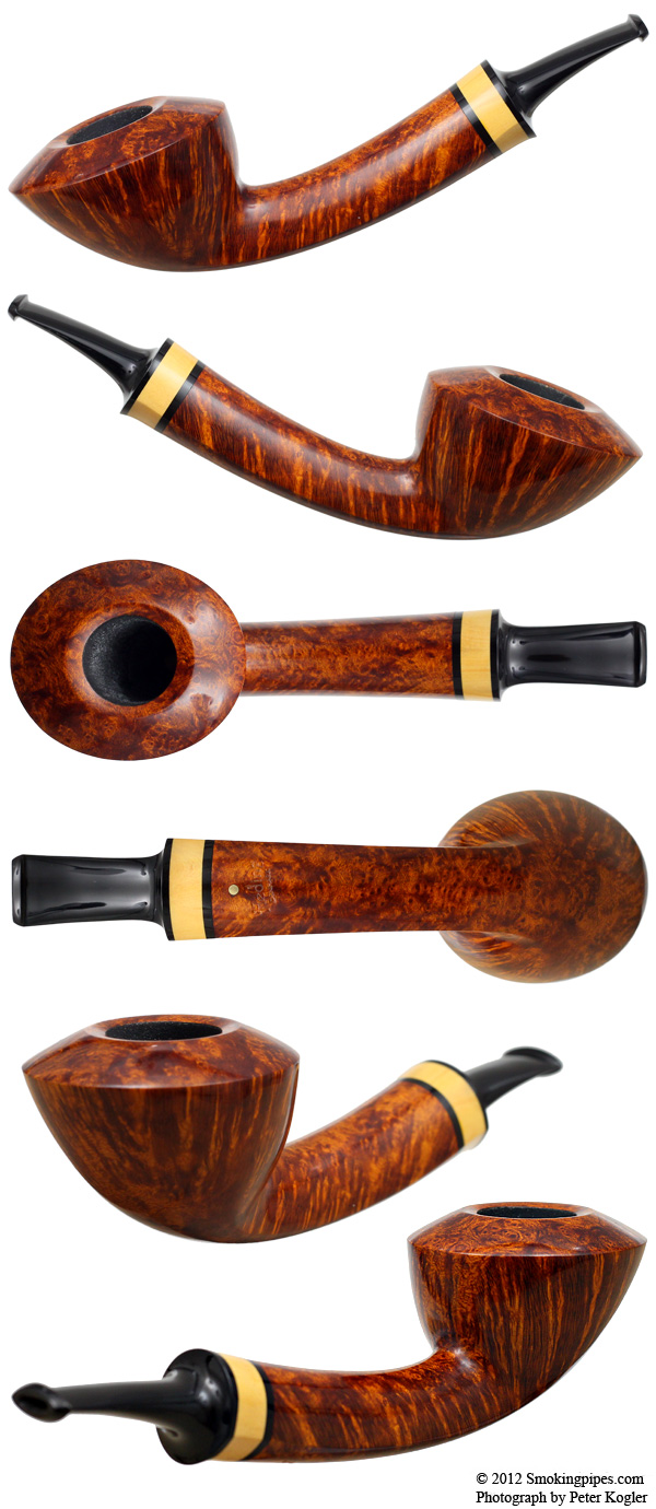 Smooth Bent Dublin with Boxwood (Gold)