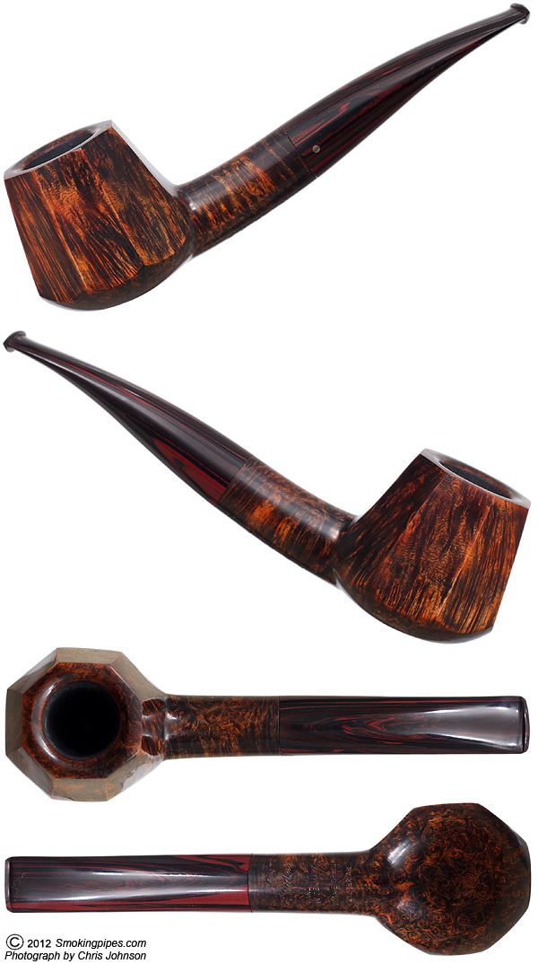 Kai Nielsen Flame Grain Old Briar Smooth Paneled Brandy (A) (9mm) (Unsmoked)