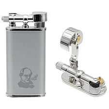 Peterson Thinking Man Pipe Lighter Satin