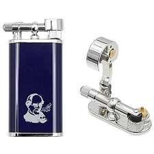 Peterson Thinking Man Pipe Lighter Blue