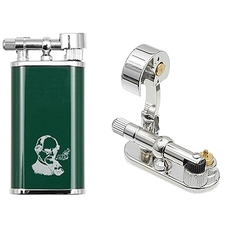 Peterson Thinking Man Pipe Lighter Green