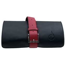 Claudio Albieri Roll Up Black/Red Italian Leather