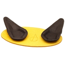 Claudio Albieri 2 Pipe Leather Magnetic Stand Yellow/Dark Brown