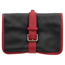Claudio Albieri Italian Leather Roll Up Black/Red