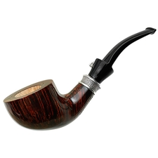 L'Anatra Smooth Bent Dublin with Silver (Two Egg)
