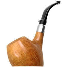 L'Anatra Smooth Bent Apple Sitter with Silver (Two Egg)