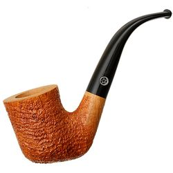 Tan Sandblasted Bent Billiard (4) (Two Stars)