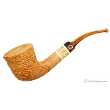 Tan Sandblasted Bent Dublin with Spalted Maple (5) (Two Star)