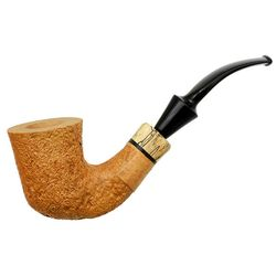 Tan Sandblasted Bent Dublin with Spalted Maple (B) (One Star)