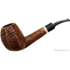 Sandblasted Paneled Bent Brandy with Silver (S2) (Maxima Maxima)