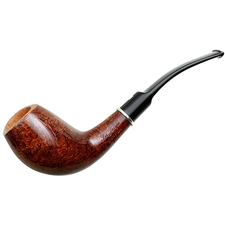 Smooth Walnut Bent Egg with Silver (L1)