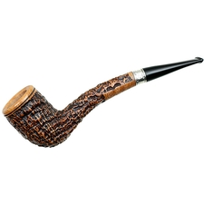 Picta Van Gogh Sandblasted Bent Billiard with Silver (S2) (16)