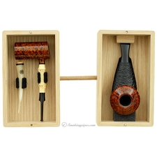 40th Anniversary Commemorative Pipe Set with Smooth Poker Partially Sandblasted Eskimo and Tamper