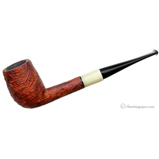 Barone Sandblasted Strawberry Wood Billiard with Horn (B2)