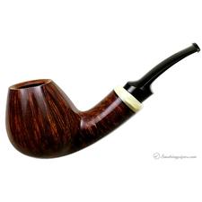 Smooth Asymmetric Bent Brandy with Muskox Horn