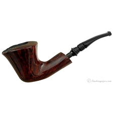 Burgundy Grain Smooth Bent Dublin Sitter (3)