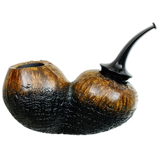 Partially Sandblasted Bent Apple Reverse Calabash