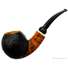 Partially Sandblasted Bent Apple with Celluloid (FH) (317)