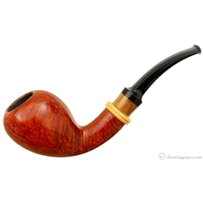 Bjarne Nielsen Smooth Bent Pear with Boxwood (A) (Unsmoked)