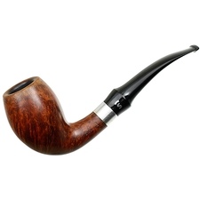 Stanwell Smooth Bent Egg with Silver (135) (1970s-1980s)