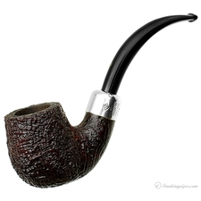 Ashton Pebble Grain Bent Billiard with Silver Army Mount (XX)