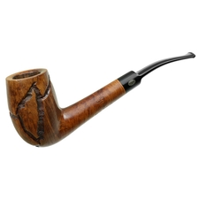 GBD Unique Hand Tooled Bent Billiard
