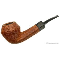 Jurgen Moritz Sandblasted Bent Bulldog with Horn (312) (Unsmoked)