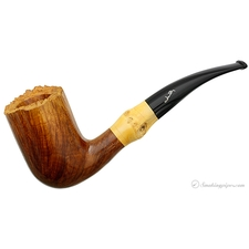 Savinelli Autograph Smooth Bent Billiard with Bamboo (8) (Unsmoked)