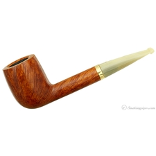 Savinelli Punto Oro Smooth with Horn Stem and 18K Gold Band (703 KS) (6mm) (Unsmoked)