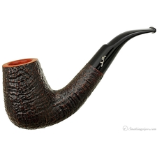 Savinelli Autograph Sandblasted Bent Billiard (5) (6mm) (Unsmoked)