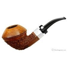 Mastro de Paja Partially Rusticated Bent Bulldog with Silver (Ciocco) (OC) (7) (Gigante) (One Sun)
