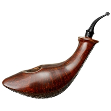 Tsuge Ikebana Partially Sandblasted Whale (J) (116) (12)