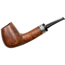Shizuo Arita Smooth Bent Brandy with Silver (02102)