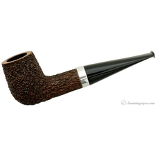 Chris Asteriou Rusticated Billiard with Silver (27/14) (Unsmoked)