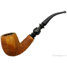 Pioneer African Meerschaum Partially Rusticated Bent Billiard