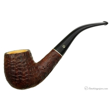 Kaywoodie Relief Meerschaum Lined Bent Billiard (14) (late 1940s)