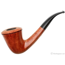 Randy Wiley Feather Carved Bent Dublin (88) (Unsmoked)